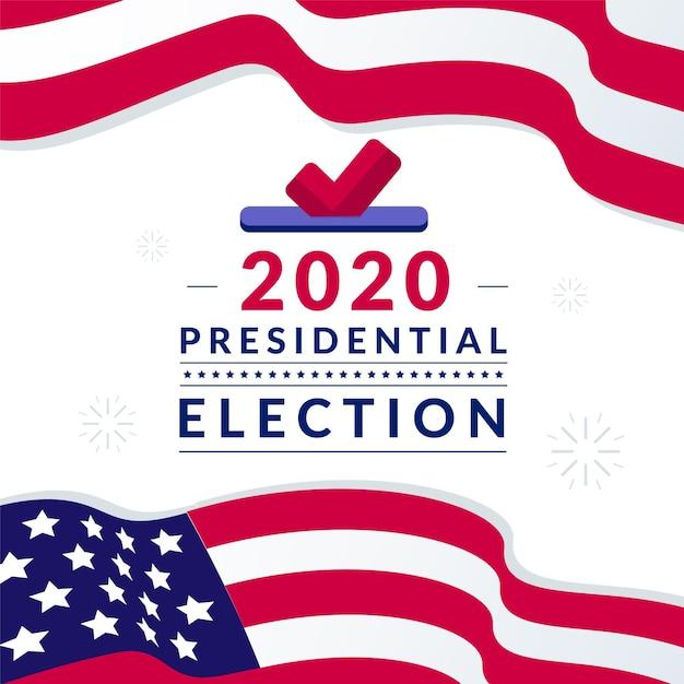Amerikaanse presidentsverkiezingen 2020 Premium Vector