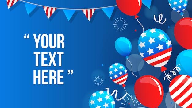 Amerikaanse viering achtergrond vectorillustratie. Premium Vector