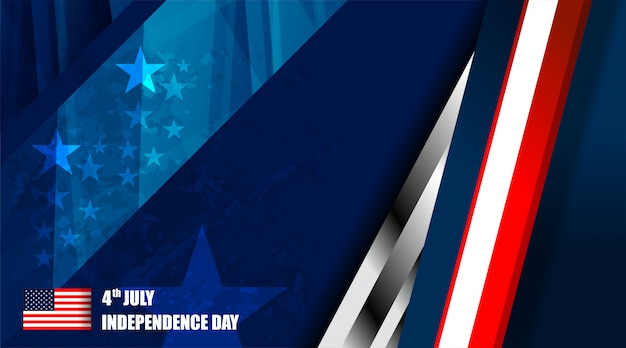 Amerikaanse vlag achtergrond voor independence day Premium Vector