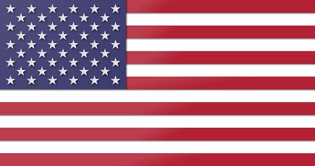Amerikaanse vlag. papier gesneden en ambachtelijke stijl Premium Vector