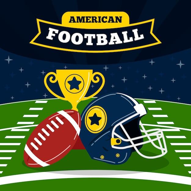 Amerikaanse voetbal illustratie Gratis Vector