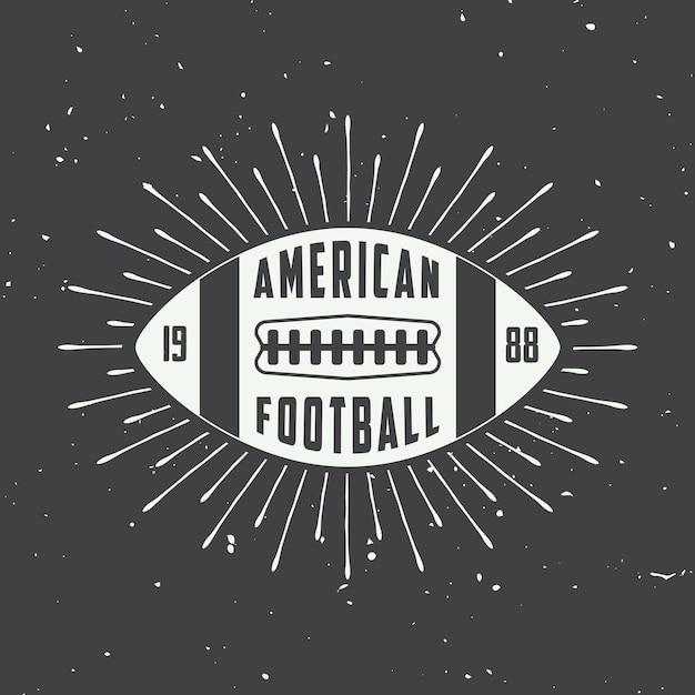 Amerikaanse voetbaletiketten, emblemen Premium Vector