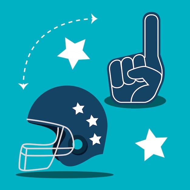 Amerikaanse voetbalspel sport Gratis Vector
