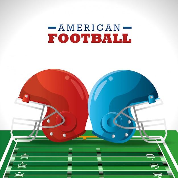 Amerikaanse voetbalsport Gratis Vector