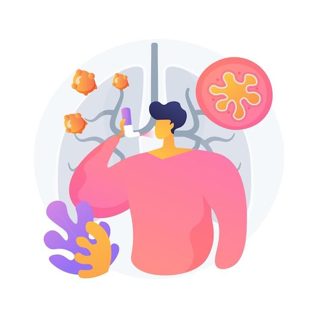 Anafylaxie abstract concept vectorillustratie. hulp bij ernstige allergische reacties, anafylactische shockbehandeling, noodgeval van allergie, overgevoeligheid, oorzaak en symptomen abstracte metafoor. Gratis Vector