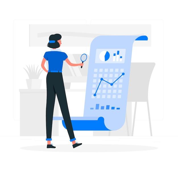 Analyse concept illustratie Gratis Vector