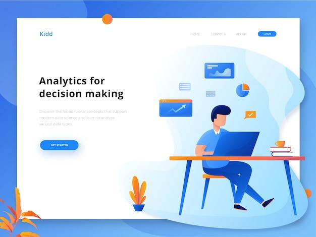 Analytics web header Premium Vector