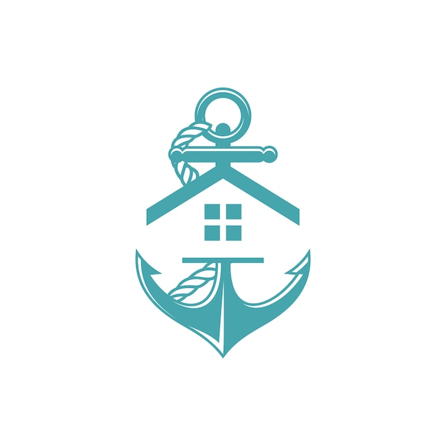 Anchor home Premium Vector