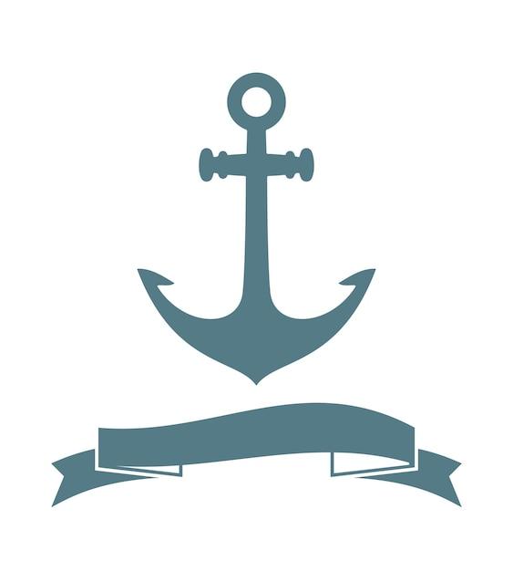 Anker badge geïsoleerd op wit. vector illustratie Gratis Vector