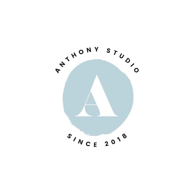 Anthony studio logo ontwerp vector Gratis Vector