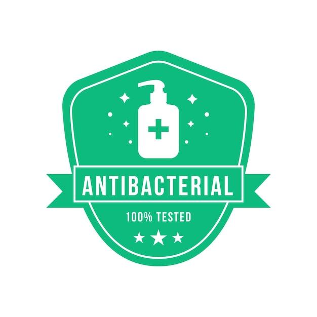 Antibacteriële logo-sjabloon Gratis Vector