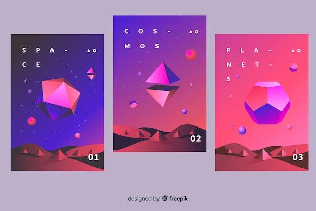 Antigravity cover collection Gratis Vector