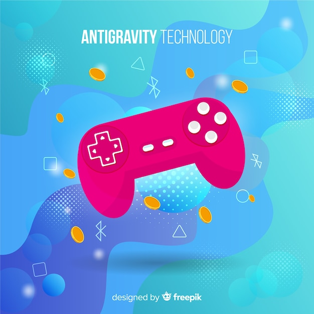 Antigravity-technologie met element Gratis Vector