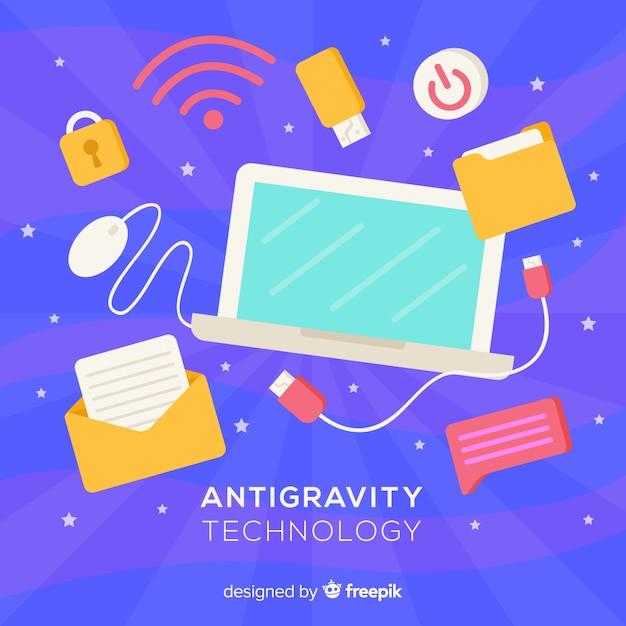 Antigravity-technologie met elementen Gratis Vector