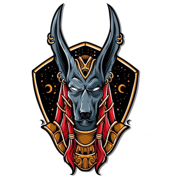 Anubis logo vector Premium Vector