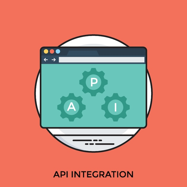 Api-integratie Premium Vector