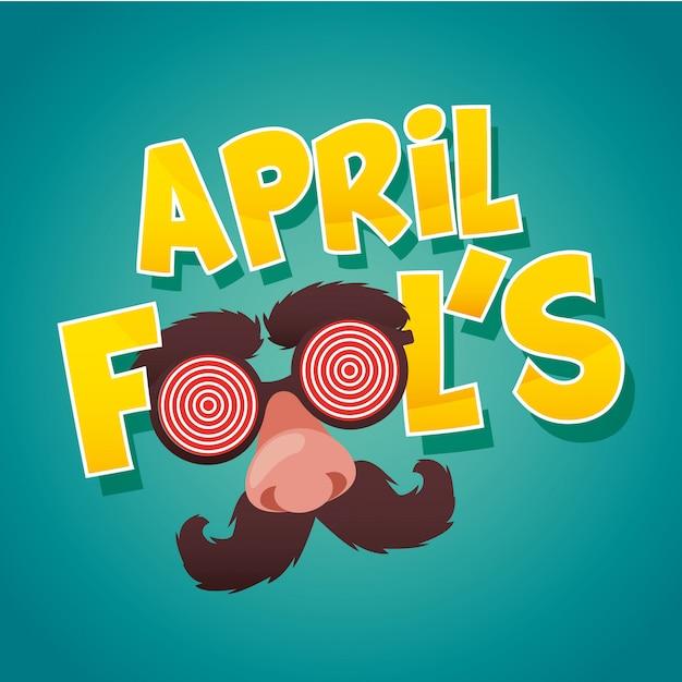 April dwazen dag kaart Premium Vector