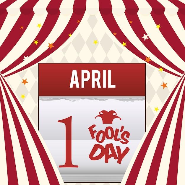 April dwazen dag kalender ontwerp Premium Vector