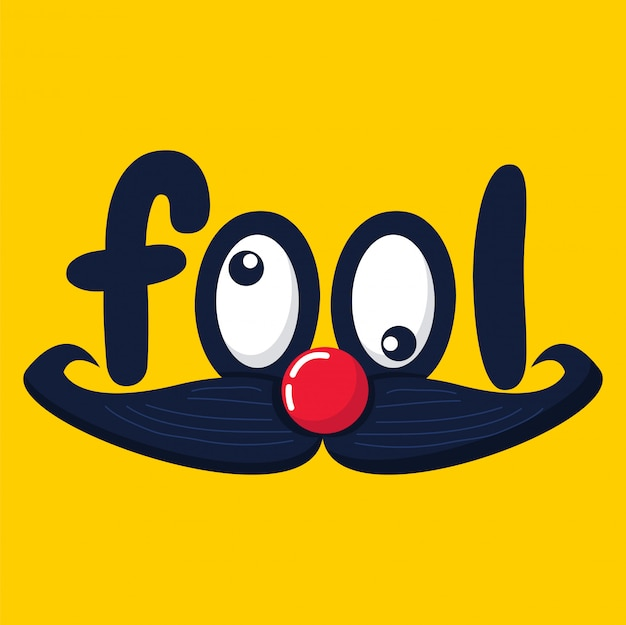 April fool's day vector funny face graphic Premium Vector
