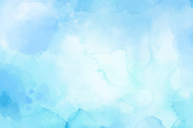 Aquarel achtergrond met lichtblauwe vlekken Gratis Vector