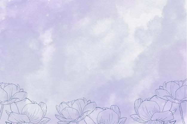 Aquarel bloemen achtergrond Gratis Vector