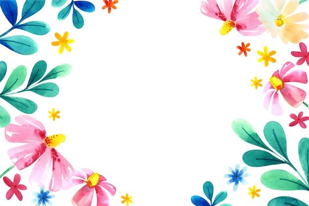 Aquarel bloemen in pastel kleuren Gratis Vector