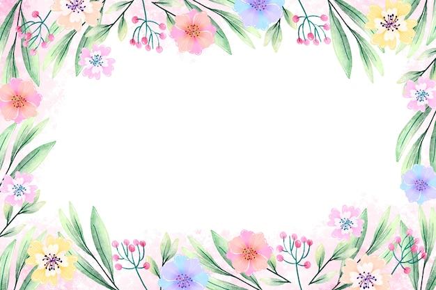 Aquarel bloemen screensaver in pastel kleuren Gratis Vector