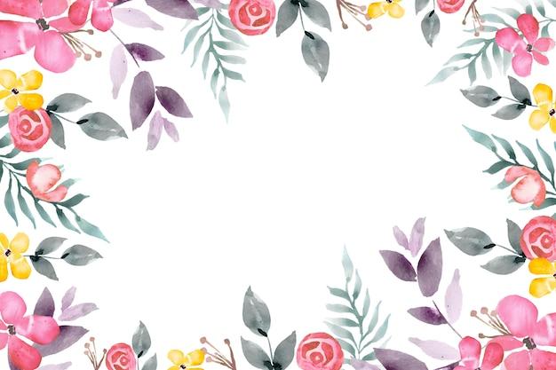 Aquarel bloemenbehang Gratis Vector