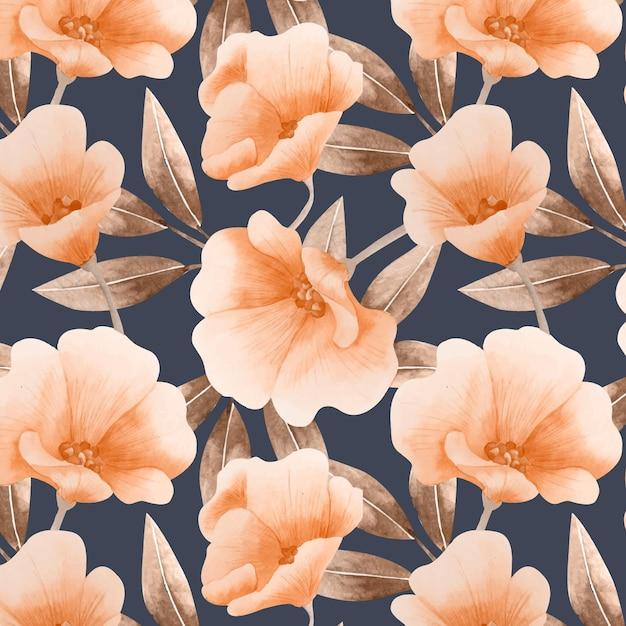 Aquarel bloemmotief Gratis Vector