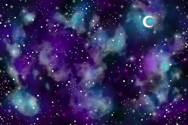 Aquarel donkere hemelachtergrond Gratis Vector