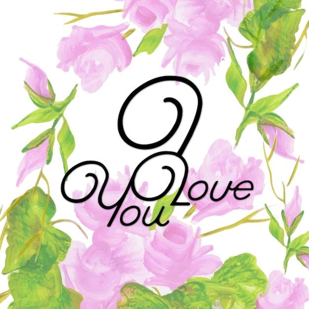 Aquarel floral valentine i love you achtergrond vector premium aquarel floral valentine i love you achtergrond premium vector voltagebd Choice Image