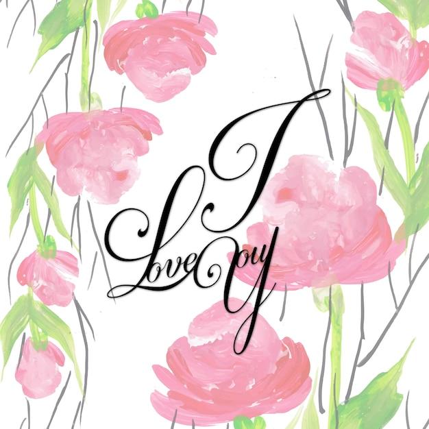 Aquarel floral valentine i love you achtergrond vector gratis download aquarel floral valentine i love you achtergrond gratis vector voltagebd Choice Image