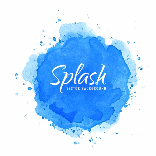 Aquarel hand verf splash Gratis Vector