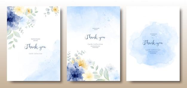 Aquarel handgeschilderde prachtige uitnodiging sjabloon Premium Vector