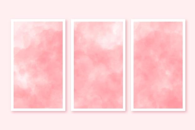 Aquarel kaarten met wolken Gratis Vector