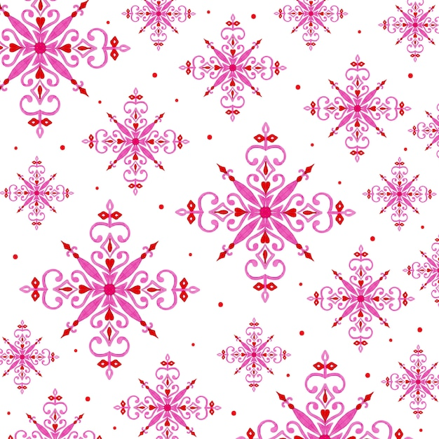 Aquarel kerst sneeuwvlokken achtergrond Premium Vector