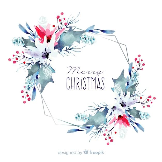Aquarel kerstdecoratie Gratis Vector