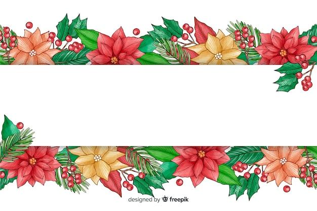 Aquarel kerstmis evenement achtergrond Gratis Vector