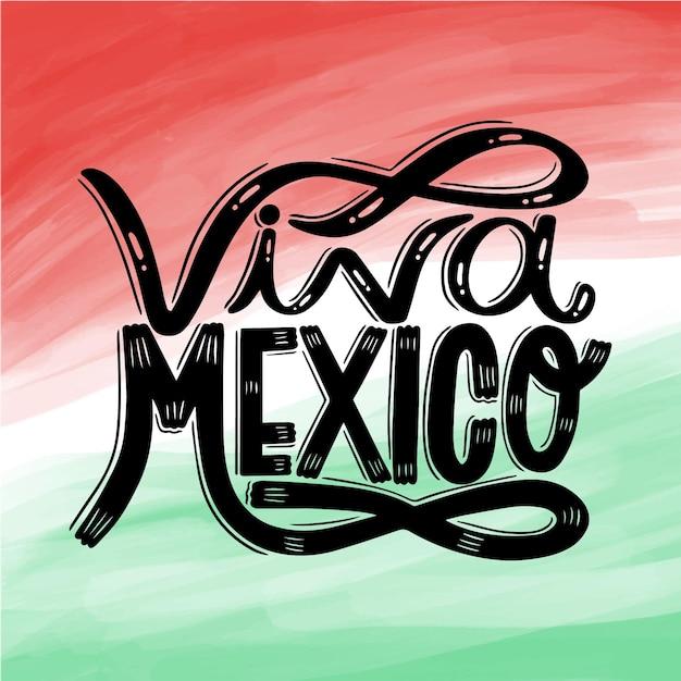 Aquarel mexico onafhankelijkheidsdag Premium Vector