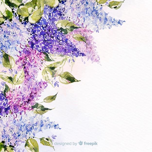 Aquarel mooie bloemen kleurrijke achtergrond Gratis Vector