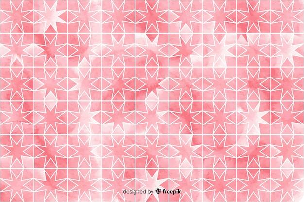 Aquarel mozaïek achtergrond in roze tinten Gratis Vector