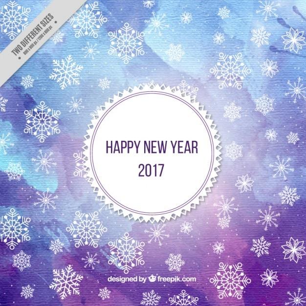 Aquarel nieuwe jaar achtergrond in paars een blauwe tinten vector premium download - Grafiek blauw grijze verf ...