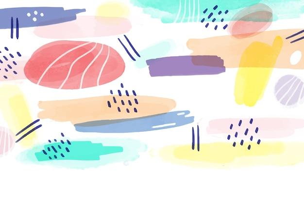 Aquarel ontwerp geschilderde achtergrond Gratis Vector