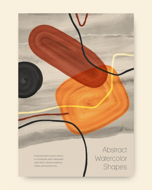 Aquarel ontwerp vormen omslagpakket Premium Vector