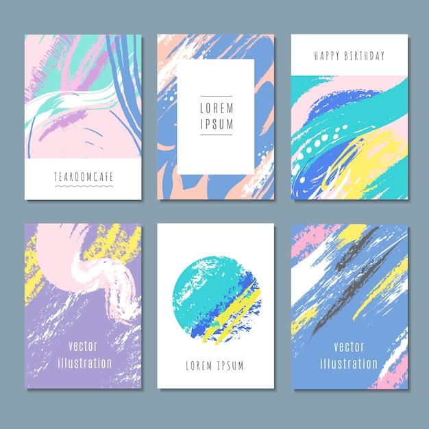 Aquarel pastel abstracte achtergronden Premium Vector