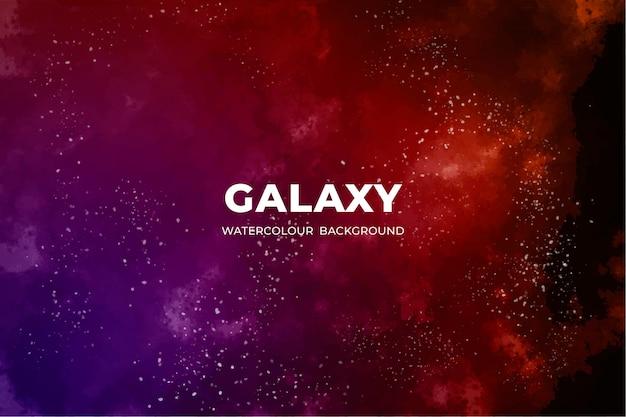Aquarel sterrenstelsel achtergrond Gratis Vector