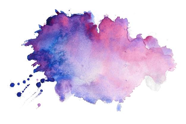 Aquarel textuur splatter vlek achtergrond Gratis Vector