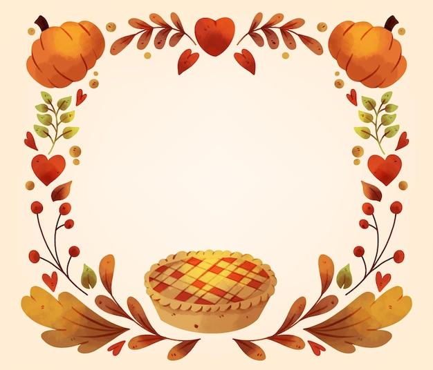 Aquarel thanksgiving achtergrond Gratis Vector
