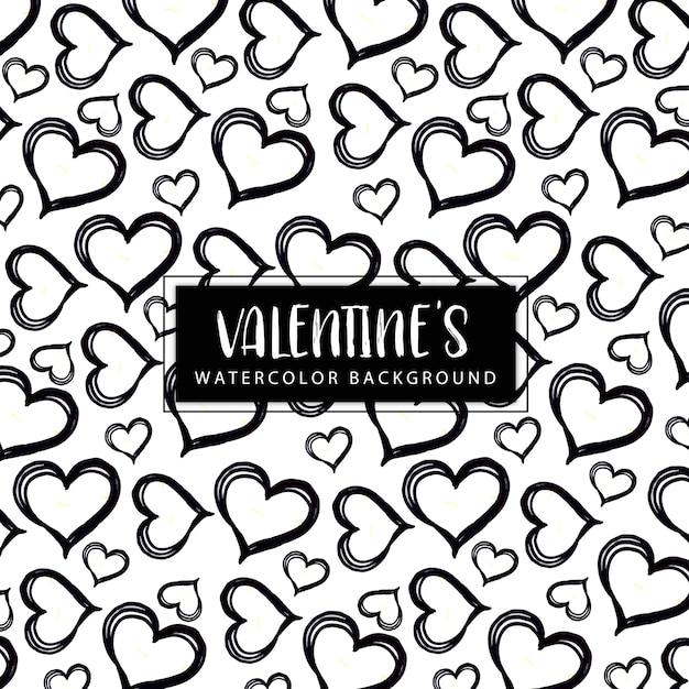 Aquarel Valentine achtergrond Gratis Vector