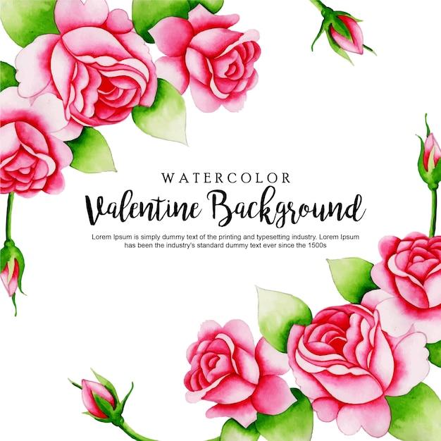 Aquarel valentine achtergrond Premium Vector